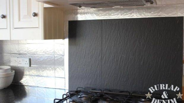 Faux Stainless Steel Removable Backsplash Renters Burlap