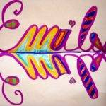 Fayston Elementary Art Symmetrical Name Designs