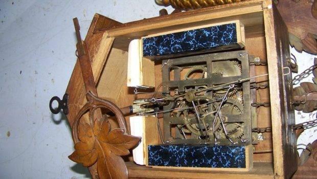 Fine Antique Cuckoo Clock Unusual Mountain Goat Black Forest