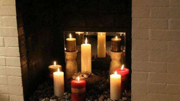 Fireplace Candles Pinterest