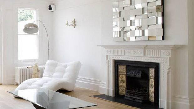 Fireplace Mantel Decorating Unique Mirror