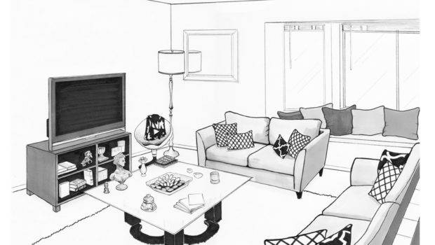 Flako Render Drawing Andres Living Room