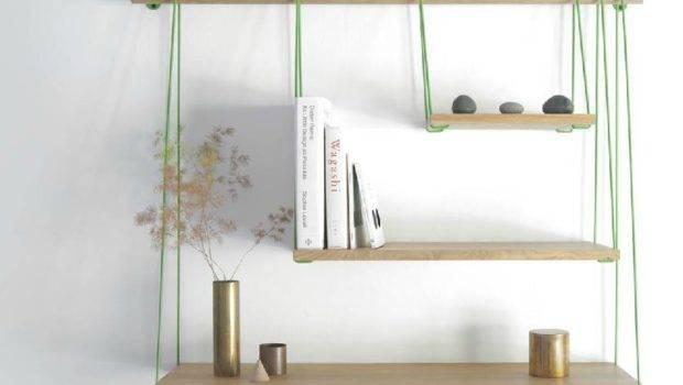 Flexible Ways Decorate Hanging Shelves