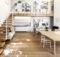 Floating Stairs Inspiring House Simple Mezzanine White Bookcase