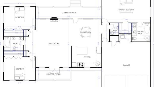 Floor Plan Example Ranch House