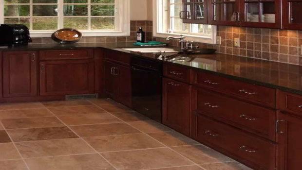 Flooring Kitchen Tile Floor Ideas Brown