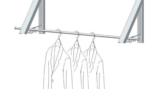 Folding Clothes Rack Wall Mounted Lovequilts