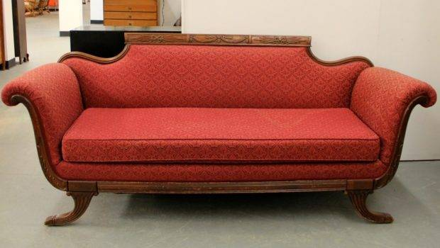 Found Ithaca Vintage Duncan Phyfe Style Sofa Sold