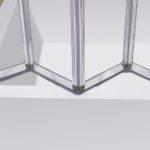Four Folding Bath Shower Screen Reversible Design Next Day