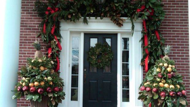 Front Porch Christmas Decorations Pin Pinterest