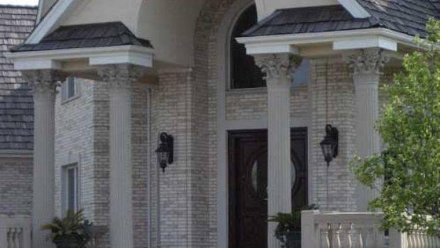 Front Porch Pillars Patio Double Door Ideas Exterior