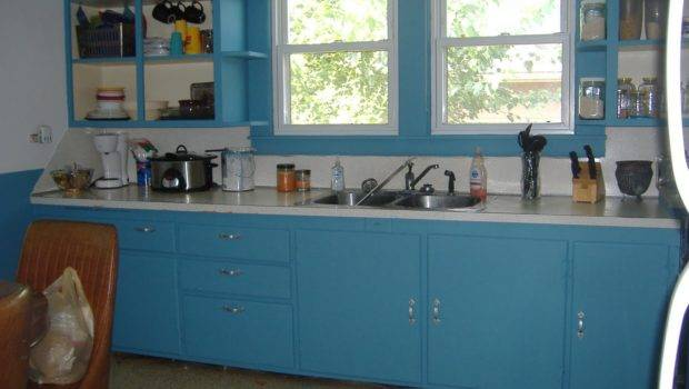 Frying Pans Kitchen Redo Budget Newly Painted Cabinets