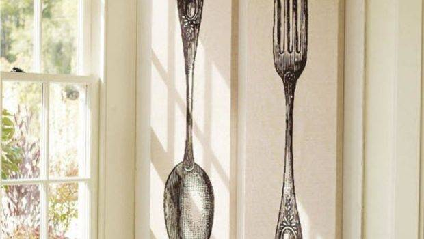 Fun Spoon Fork Wall Decor Creative Kitchen Rilane