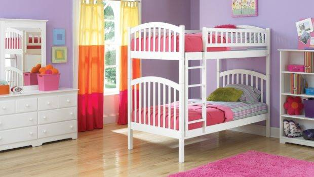 Funny Play Bunk Beds Teenage Girls Small Pink Bedroom Decorating