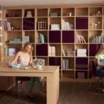 Furniture Awesome Bespoke Oak Wood Home Office Design