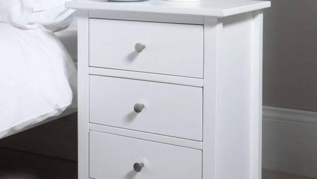 Furniture Carrington Drawer Nightstand Ivory White