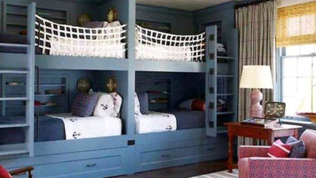 Furniture Cool Bunk Bed Designs Three Four Children Beds