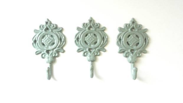 Furniture Great Floral Motives Decorative Coat Hook Patterned Design