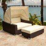 Furniture King Wicker Rectangular Day Bed Canopy