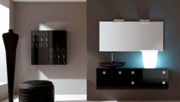 Furniture Modern Bathroom Black Cabinets
