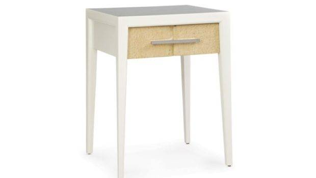 Furniture White Wooden Small Night Stands Four Legs