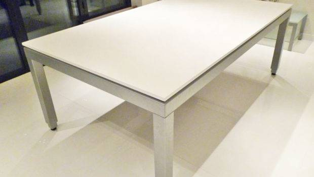 Fusion Pool Dining Table Customer Installation Tops