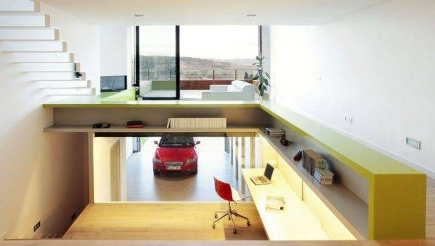 Garage Ground Terraced House Casavells Seen Work Office
