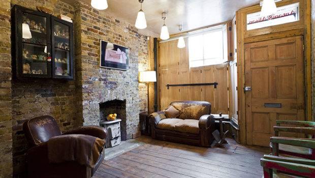Georgian Yet Cozy House Interior Brick Walls
