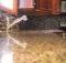 Glass Backsplash Fort Collins Light Gray Grout