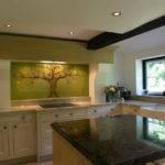 Glass Splashback Kitchen Coloured Bespoke