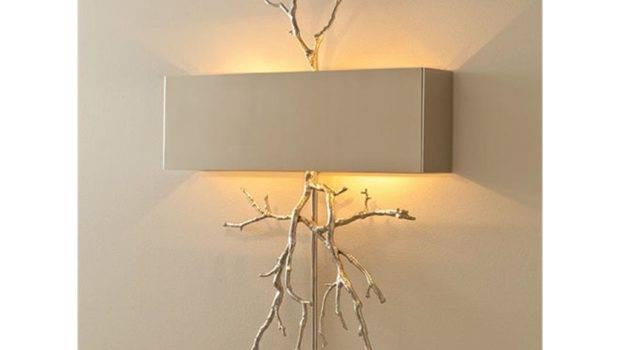 Global Views Lamps Lighting Twig Hardwired Wall Sconce Nickel