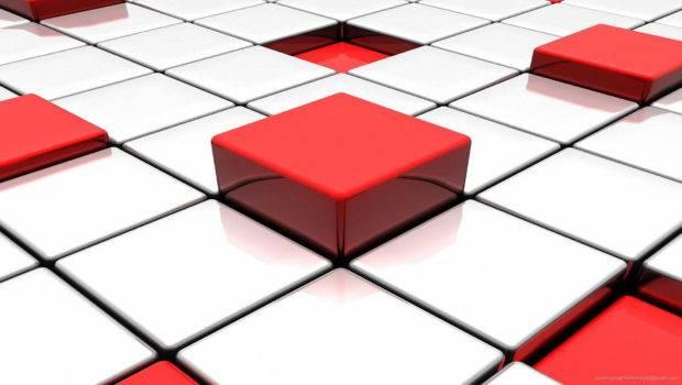 Glossy Red White Blocks
