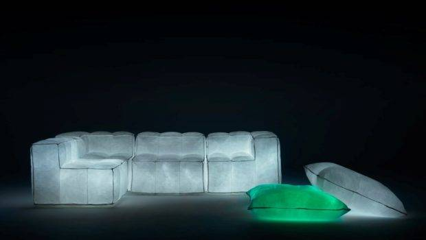 Glowing Furniture Pouf Sofa Meritalia Padded