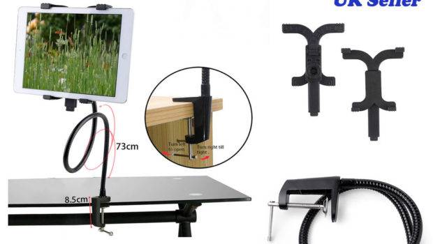 Gooseneck Lazy Bed Desk Stand Mount Holder Ipad