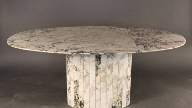 Gorgeous Carrara Marble Oval Dining Table Italian Stdibs