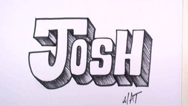 Graffiti Writing Josh Name Design Names Promotion Youtube