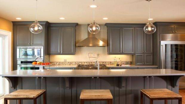 Gray Painted Kitchen Cabinets Cabinet Paint Color