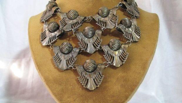 Great Art Deco Egyptian Revival Bib Necklace Layaway