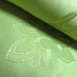 Green Color Material Curtains