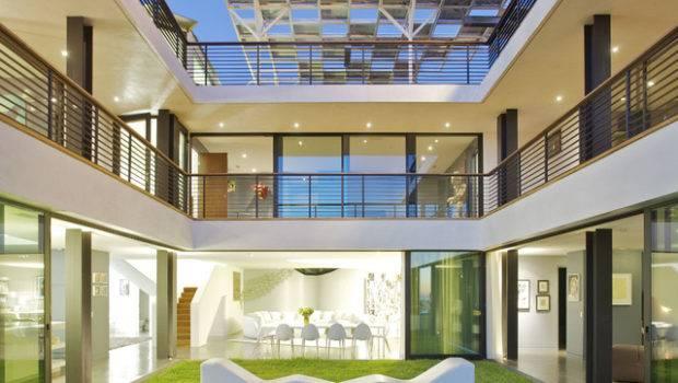 Green Greenberg House Modern Patio Los Angeles