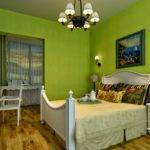 Green Wall Painting Designs Bedroom