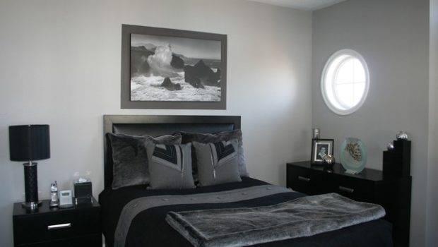 Grey Black Bedroom Contemporary Ottawa
