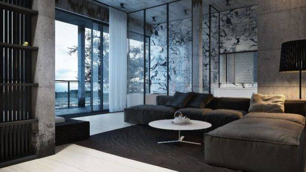 Grey Modern Living Space Might Feel Bit Colder Harsher