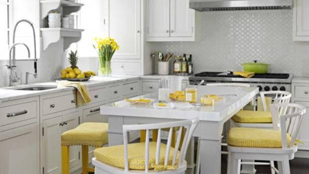 Grey Yellow Kitchen Ideas