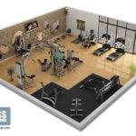 Gym Design Fitness Layout Portfolio Tech