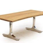 Habitat Tepi Akar Edge Dining Table Stainless Steel Legs