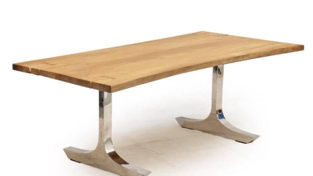 Habitat Tepi Akar Edge Dining Table Stainless Steel Legs