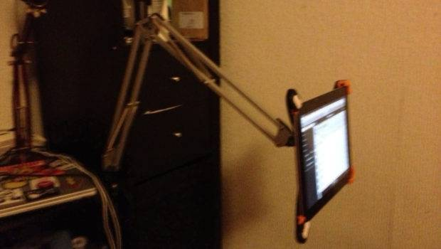 Hack Lamp Into Ipad Holder Bedroom