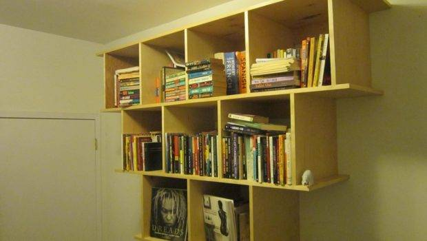 Hand Crafted Wall Hanging Bookcase Shelves Wooden