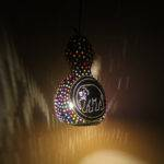 Handmade Calabash Gourd Lamp Hanging Tribalarthome Etsy